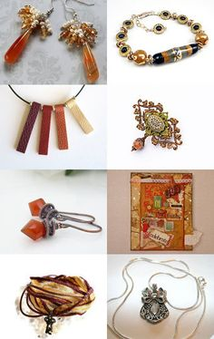 "See my Semi-Precious Earrings in Long Orange Teardrop Carnelians, Ivory Potato Pearls, Swarovski Topaz Crystals and Topaz Preciosa Crystals in a SHP Treasury, ""Fudge And Licorice"" by Rosi on Etsy--Pinned with TreasuryPin.com The direct link to my Earrings is: https://www.etsy.com/listing/252390519/carnelian-earrings-carnelian-jewelry?ref=tre-2728229238-6 Thanks, Eloise ***AdornmentsByEloise***"