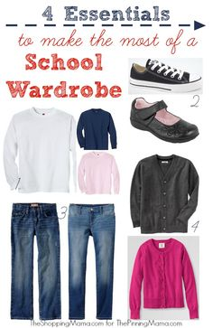 4 Essentials to make the most of a School Wardrobe from @Kate - The Shopping Mama for @Ashley and Kimber -ThePinningMama