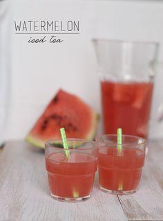 Thé glacé à la pastèque