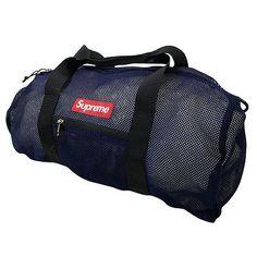 SUPREME 16SS Mesh Duffle Bag mesh duffel bag NAVY FREE