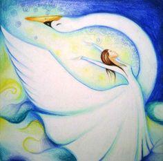 Swan Goddess by Timea Varga