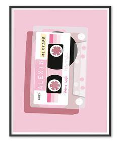PopDigit Print Mixtape Baby Pink by PopDigit on Etsy