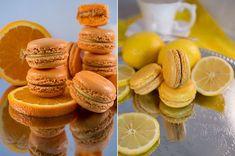 Лимонные и апельсинные макаронс/Lemon&orange macarons