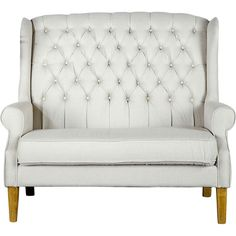 Tufted high-backed loveseat