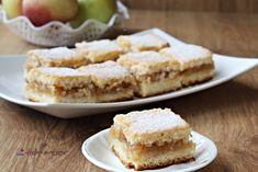 prăjitură turnată cu mere - rețetă simplă Romanian Desserts, Apple Pie, Biscuit, Caramel, Food And Drink, Cooking, Cake, Recipes, Ferrero Rocher