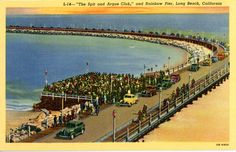 Old Long beach postcard. Hagins collection.