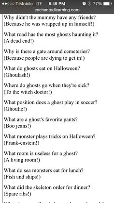 halloween poems and jokes