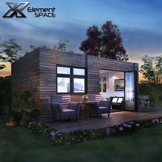 2 units 20ft luxury container homes design, prefab shipping container homes