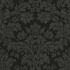 allen roth - Black Strippable Non-Woven Paper Prepasted Wallpaper Waverly Wallpaper, Toile Wallpaper, Prepasted Wallpaper, Brown Wallpaper, Bathroom Wallpaper, Vinyl Wallpaper, Wallpaper Companies, Wallpaper Samples, Wallpaper Patterns