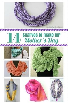 14 Simple Scarves to Make for Mother's Day - And Sew We Craft