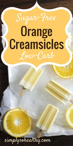 These low carb orange creamsicles are smooth, creamy, and dreamy! They remind me of the frozen treats I remember from childhood, but are even better.  The orange and vanilla flavors combine with rich cream to make addictive frozen delicacies.  Trust me–you won't miss a single carb.