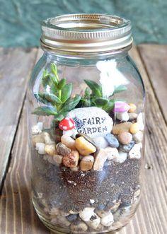 14 Alluring Mason Jar Fairy Garden Ideas You Should Look Now!   Balcony Garden Web