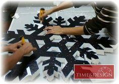 Copos de nieve #decoracion #timedesign