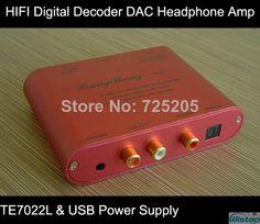 HIFI Digital Decoder DAC Mini Portable TE7022L USB Port Power Supply Headphone Amp Free Shipping  $109.00