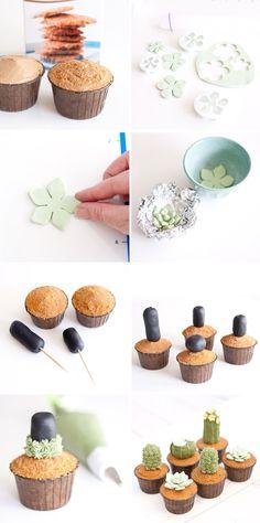 Cactus cupcakes #delicius