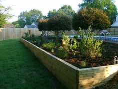 Wooden Retaining Wall