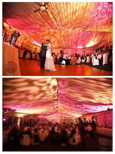 #outsidetentlighting use #gobos and layer your lighting and incorporate lighting effects to create this warm beautiful ambiance at your #tentreception