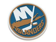 New York Islanders ice hockey team logo. #3Dmodel #NHL #logo #icehockey #NewYorkIslanders