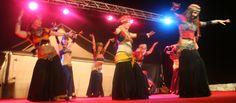 Zorah Leduc & groupe Zinue Tribu performing Tribal Belly Dance, Raqs el Sayf , at the feria medieval.  www.ibizadance.es