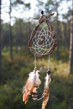 Simple and easy forest, traditional dream catcher totem. The name is Simple wishes. Not made to surprise anybody - just a simple talisman for good