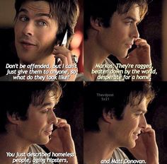 Haha Damon's one-liners were on point this episode.