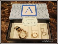 iPhone Box Turned Monogrammed Jewelry Box - DIY by Design