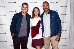 The charismatic The Originals actor, Charles Michael Davis (Marcel) spent Saturday at the Lacoste show at the annual Mercedes-Benz Fashion Week Spring 2015.