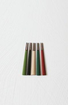 엘 광주요 오방색 후식포크세트 / L Kwangjuyo Five colors dessert fork set / 61,000 won