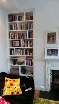 Alcove shelving unit made in West London Alcove Shelving, Garage Shelving, Built In Shelves, Shelving Ideas, Living Room Themes, Living Room Designs, Living Rooms, White Ceiling, Kitchen Shelves