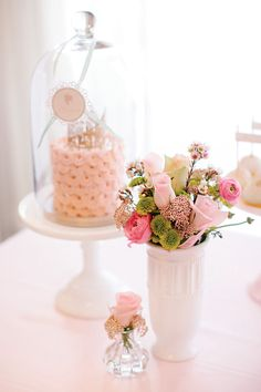 Charming Pastel Pink First Birthday Party {Korean Dol} // Hostess with the Mostess®