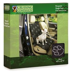 Cruising Companion Single Seat Covers  -  Cushioned Car Seat Covers for Dogs, Camel ** You can get more details by clicking on the image.
