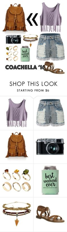 """""""Coachella pack"""" by who-saw-vera ❤ liked on Polyvore featuring LE3NO, Yves Saint Laurent, Retrò, ASOS, Topshop, Office, Summer, fringe, coachella and 2016"""