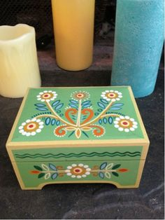 Vintage Jewelry Box-- maybe @Kelsey Myers Wallace could paint one for me??