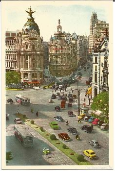 Neoclassical Architecture, Vintage Architecture, Foto Madrid, Watercolor Architecture, Grand Tour, Retro Futurism, Modern House Design, Big Ben, Dolores Park