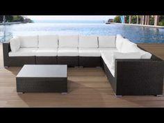 Patio Set - Wicker Furniture - Patio Conversation Set - Brown and White -  XXL Grande