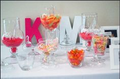 wedding reception candy buffet ideas yellow | Wedding, Reception, Favors, Candy buffet, Candy bar, Apothecary jars ...