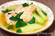 Chicken Tinola w/Papaya & Chili Pepper Leaves (or Spinach). ✔️DONE. Delicious!!!