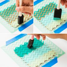 Make color blocked coasters with this DIY.