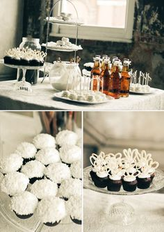 Dessert table set-up:  This reminds me of my mother-in-law... I love her tea parties.