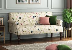 #Beautiful #Floral #Loveseats #Sofa #Couches by #WoodenStreet