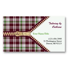 Alterations Shop, Seamstress or Tailor's Shop Business Card ...