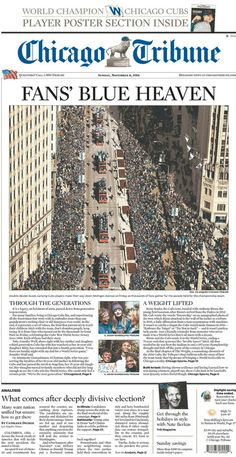 2016 news Chicago Cubs celebrate 2016 World Series Victory with a parade in Chicago. The Cubs had not won a World Series since 1908 years). Chicago Cubs Fans, Chicago Cubs World Series, Chicago Cubs Baseball, Chicago Bears, Cubs Sox, World Series Winners, Cubs Players, Go Cubs Go, Wrigley Field
