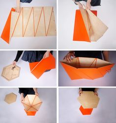 origami side table Origami Inspired Furniture Snaps Collectively With Magnets other ideas