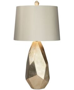 """The art deco look of this stunning lamp is accentuated by a brushed nickel finish on the base.   Imported   Dimensions: 17""""W x 33""""H   Lamp shade dimensions: 15""""W x 17""""D x 12""""H   Weight: 14 lbs.   150-"""