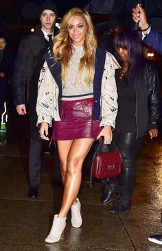 Queen Bey reigned supreme in this rainy day ensemble.