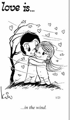 Love is in the wind. - love is comics Funny Love, Cute Love, Love Him, Love Is Cartoon, Love Is Comic, Happy Marriage, Love And Marriage, Romantic Love Quotes, Love Notes