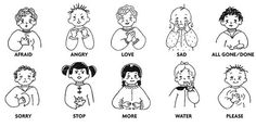 There are many benefits of learning sign language, even for the hearing community. Babies can build stronger vocabularies, and older children and adults improve spelling, vocabulary, and other communication skills. Baby Sign Language Chart, Sign Language For Toddlers, Sign Language Basics, Simple Sign Language, Sign Language Phrases, Sign Language Interpreter, Sign Language Alphabet, British Sign Language, Learn Sign Language