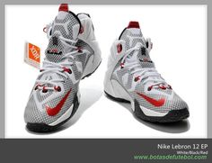 Masculino Branco/Preto/Vermelho 684593-159 Nike Lebron 12 chuteiras para vender