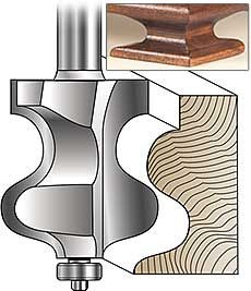 Mlcs Carbide Tipped French Provincial Traditional Foot Furniture Maker And Handrail Router Bits
