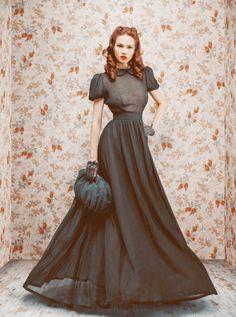 The debut collection of Russian Ulyana Sergeenko.